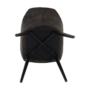 Kép 14/18 - LACEY Design karosszék - szálcsiszolt bőrszövet,  barna / fekete