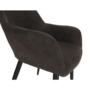 Kép 15/18 - LACEY Design karosszék - szálcsiszolt bőrszövet,  barna / fekete