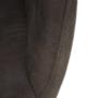 Kép 17/18 - LACEY Design karosszék - szálcsiszolt bőrszövet,  barna / fekete