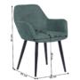 Kép 2/18 - LACEY Design fotel,  zöld/fekete