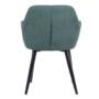 Kép 3/18 - LACEY Design fotel,  zöld/fekete