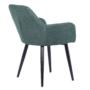 Kép 4/18 - LACEY Design fotel,  zöld/fekete