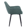 Kép 5/18 - LACEY Design fotel,  zöld/fekete
