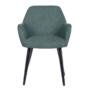 Kép 6/18 - LACEY Design fotel,  zöld/fekete
