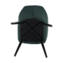Kép 13/18 - LACEY Design fotel,  zöld/fekete