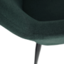 Kép 15/18 - LACEY Design fotel,  zöld/fekete
