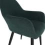 Kép 16/18 - LACEY Design fotel,  zöld/fekete