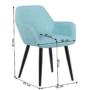Kép 2/16 - LACEY Design fotel,  mentolos/fekete