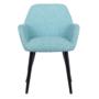 Kép 6/16 - LACEY Design fotel,  mentolos/fekete