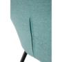 Kép 9/16 - LACEY Design fotel,  mentolos/fekete