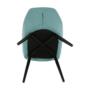 Kép 10/16 - LACEY Design fotel,  mentolos/fekete