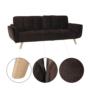 Kép 3/19 - FILEMA Széthúzhatós kanapé,  barna/tölgy