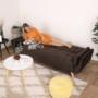 Kép 4/19 - FILEMA Széthúzhatós kanapé,  barna/tölgy