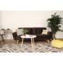 Kép 6/19 - FILEMA Széthúzhatós kanapé,  barna/tölgy