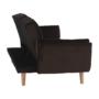 Kép 12/19 - FILEMA Széthúzhatós kanapé,  barna/tölgy