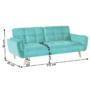 Kép 2/2 - FILEMA Széthúzhatós kanapé,   neo mint/tölgy