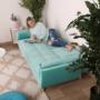 Kép 2/24 - FILEMA Széthúzhatós kanapé,   neo mint/tölgy
