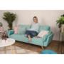 Kép 3/24 - FILEMA Széthúzhatós kanapé,   neo mint/tölgy