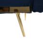 Kép 17/19 - HORSTA kinyitható kanapé,  királykék/arany