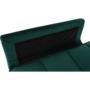 Kép 8/21 - KAPRERA Kinyitható kanapé,  smaragd bársony/bükk [NEW]