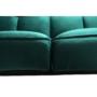 Kép 9/21 - KAPRERA Kinyitható kanapé,  smaragd bársony/bükk [NEW]