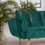 Kép 18/21 - KAPRERA Kinyitható kanapé,  smaragd bársony/bükk [NEW]