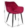 Kép 2/14 - FEDRIS Dizájnos fotel,  málna Velvet anyag