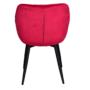 Kép 3/14 - FEDRIS Dizájnos fotel,  málna Velvet anyag