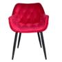 Kép 4/14 - FEDRIS Dizájnos fotel,  málna Velvet anyag