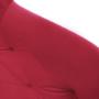 Kép 5/14 - FEDRIS Dizájnos fotel,  málna Velvet anyag