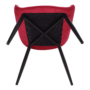 Kép 6/14 - FEDRIS Dizájnos fotel,  málna Velvet anyag