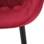 Kép 8/14 - FEDRIS Dizájnos fotel,  málna Velvet anyag