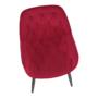 Kép 9/14 - FEDRIS Dizájnos fotel,  málna Velvet anyag