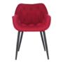 Kép 12/14 - FEDRIS Dizájnos fotel,  málna Velvet anyag