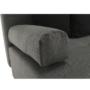 Kép 13/24 - MEXX Sarokülőgarnitúra - J allású -  ágyfunkcióval,  szövet szürke/ párnák fekete [NEW]