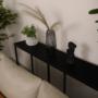 Kép 4/5 - BUSTA Konzolasztal ipari stílusban,  sötétszürke grafit/fekete