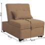 Kép 2/5 - OKSIN Fotel ágyfunkcióval,  barna anyag