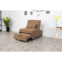 Kép 4/5 - OKSIN Fotel ágyfunkcióval,  barna anyag