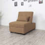 Kép 5/5 - OKSIN Fotel ágyfunkcióval,  barna anyag