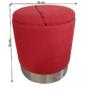 Kép 2/2 - DARON Puff,  oxy fire piros anyag/ezüst króm