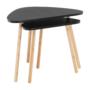 Kép 3/10 - GOREJ Két darabos asztalkészlet,  fekete/természetes