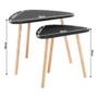 Kép 6/10 - GOREJ Két darabos asztalkészlet,  fekete/természetes