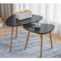 Kép 9/10 - GOREJ Két darabos asztalkészlet,  fekete/természetes