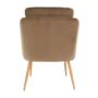 Kép 2/13 - AVETA Dizájner fotel,  barna Velvet szövet