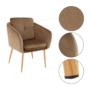 Kép 3/13 - AVETA Dizájner fotel,  barna Velvet szövet