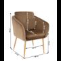 Kép 4/13 - AVETA Dizájner fotel,  barna Velvet szövet