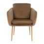 Kép 5/13 - AVETA Dizájner fotel,  barna Velvet szövet