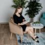 Kép 9/13 - AVETA Dizájner fotel,  barna Velvet szövet