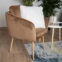 Kép 10/13 - AVETA Dizájner fotel,  barna Velvet szövet