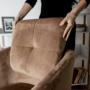 Kép 11/13 - AVETA Dizájner fotel,  barna Velvet szövet